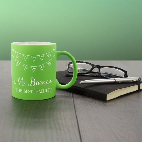 Personalised The Best Teacher Matte Coloured Mug